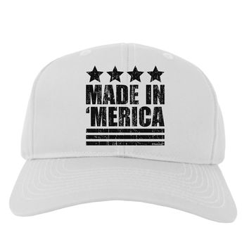 Made in Merica - Stars and Stripes Design Adult Baseball Cap Hat