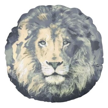 LION KING | Brushed Polyester Round Throw Pillow