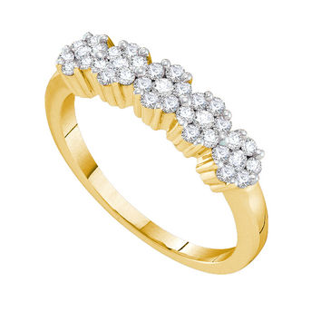 Diamond Flower Ring in 14k Gold 0.25 ctw
