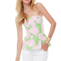 Shandy Strapless Peplum Top - Lilly Pulitzer