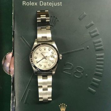 VONW3Q Rolex Oyster Perpetual Datejust S/S Watch with Diamond Dial