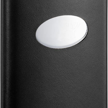 Visol Damien Black Leather Stainless Steel 8oz Liquor Flask