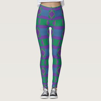 Purple Diamonds and Angles Leggings