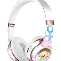 Pink Watercolor Ribbon Over Anchor Full-Body Skin Kit for the Beats by Dre Solo 3 Wireless Headphones