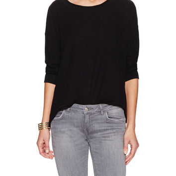 French Connection Women's Grace Embroidered Lace Back Sweater - Black