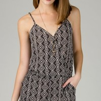 ANGL | Geometric Print Crossover Romper