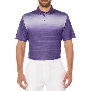 Ben Hogan Performance Men's Space Dye Printed Golf Polo Shirt