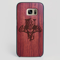 Florida Panthers Galaxy S7 Edge Case - All Wood Everything