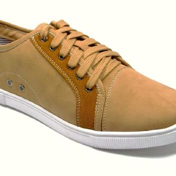 Mens Polar Fox Cap Toe Lace Up Casual Sneakers 30180 Brown-367