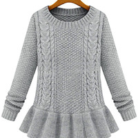 Cupshe Got A Hold on Me Falbala Sweater Top