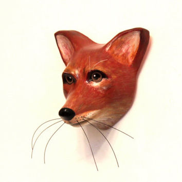 What Does the Fox Say? Realistic hand painted fox wall decor