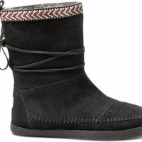 Black Suede Trim Women's Nepal Boots