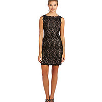 Adrianna Papell Scalloped Lace Dress | Dillards.com