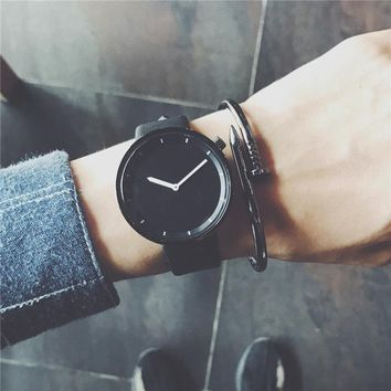 Minimalist stylish men quartz watches drop shipping 2018 new fashion simple black clock BGG brand