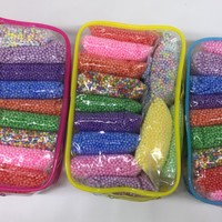 Colored foam beads set - Great for making floam and slime
