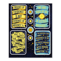 INSPIRING SCIENCE QUOTE STICKER