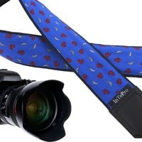 Camera strap with anchors. Marine camera strap. DSLR / SLR Camera Strap. Durable, light weight and well padded camera strap. Dolphins design