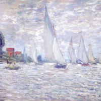 Regatta at Argenteuil by Claude Monet Fine Art Print