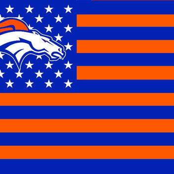 Denver Broncos 3 x 5 Foot Stars and Stripes Flag