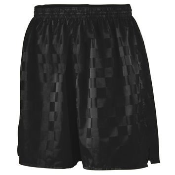 Augusta 431 Long Checkerboard Nylon Short-Youth - Black