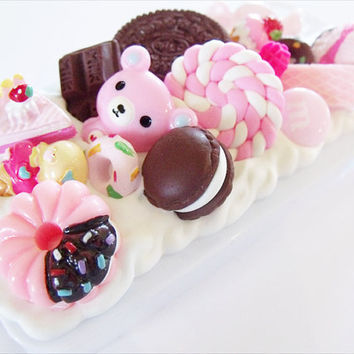 iPhone 4 decoden case pink chocolate kawaii candy