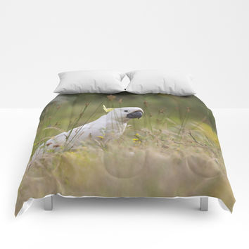 cute parrot Comforters by abeerhassan