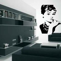Audrey Hepburn Vinyl Wall Decal Sticker Graphic by laras4labs