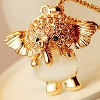 Lovely Elephant Gold Necklace from Charmaco