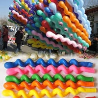 Hot 50PCS Colorful Latex Rubber Helium Spiral Balloons for Wedding  Party  D_L = 1712754756