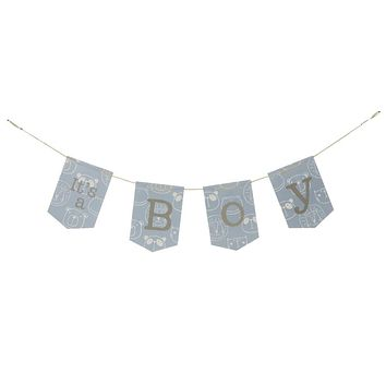 """""""It's a Boy"""" Hanging Banner"""