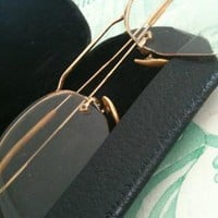 vintage eyeglasses with wire frames circa 1920 by OdeToJune