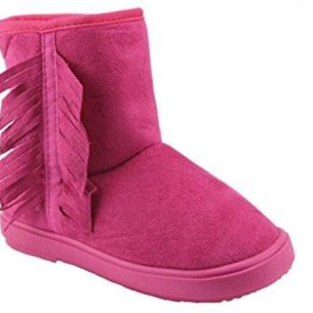 Girls Ositos BTF-07K Suede Fringe Cozy Lined Boots