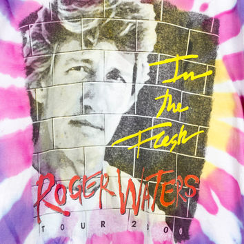RARE ROGER WATERS In the Flesh World Tour shirt / vintage / the wall / 2000 millennium / tie dye / pink floyd tee / band shirts / men large