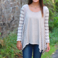 All of the Stripes Top {Mocha}
