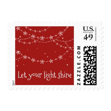 Let Your Light Shine | Postage Stamp