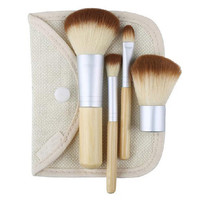 Five Piece Bamboo Makeup Brush Set