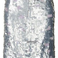 Silver Sequin Pencil Skirt - New In This Week  - New In