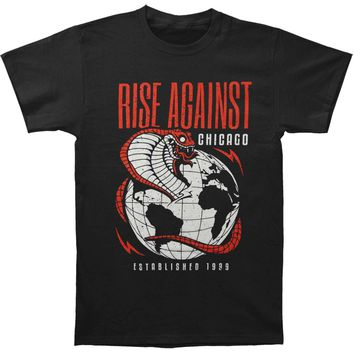 Rise Against Men's  Cobra Tee T-shirt Black