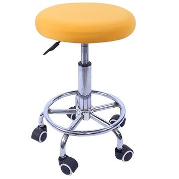 Chair Covers for Bar Stool Slipcover Round Stool Cover Elastic Dental Seat Cover Round Chair Protector Dustproof Cloth