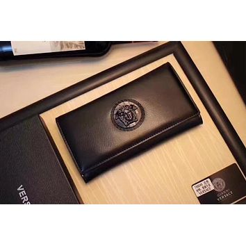 VERSACE MEN'S NEW STYLE LEATHER HAND BAG WALLET