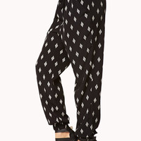 High-Waisted Tribal Print Pants