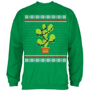 PEAPGQ9 Cactus Prickly Pear Tree Ugly Christmas Sweater Mens Sweatshirt