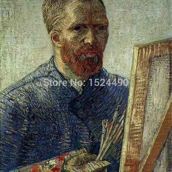 Free Shipping!! Hand Painted World Top Famous Painting Reproduction Self-portraits By Vincent Van Gogh Oil Painting On Canvas