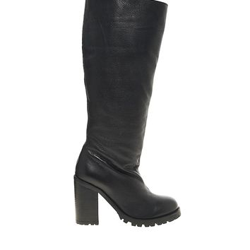 ASOS CAMPAIGN Leather Knee High Boots