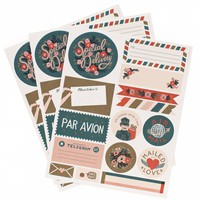 Par Avion Stickers & Labels by RIFLE PAPER Co. | Made in USA