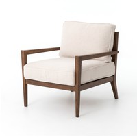 AMARE WOOD FRAME ACCENT CHAIR - BESPOKE NATURAL