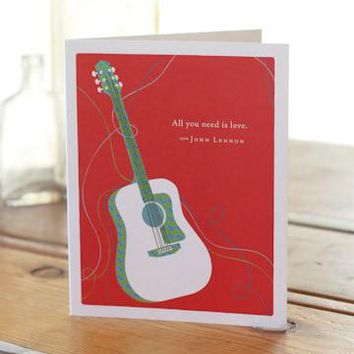 All You Need Is Love, A Positively Green Love and Friendship Card