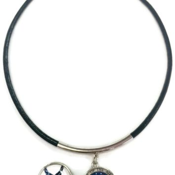 """US Military AIR FORCE Snaps on  15"""" Necklace with 2 18MM - 20MM Snap Jewelry Charms New Item"""