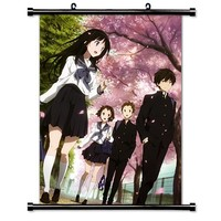 "1 X Hyouka Anime Fabric Wall Scroll Poster (16"" X 23"") Inches"