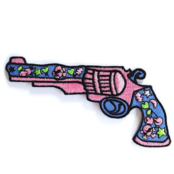Gun Iron on Patch Size 12 x 6 cm